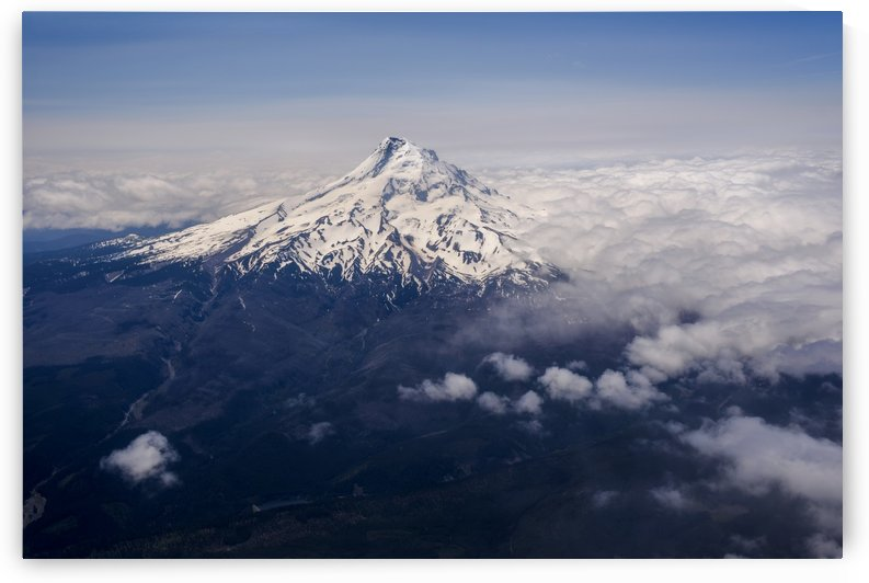 Mt. Hood towers above the clouds; Hood River, Oregon, United States of America by PacificStock