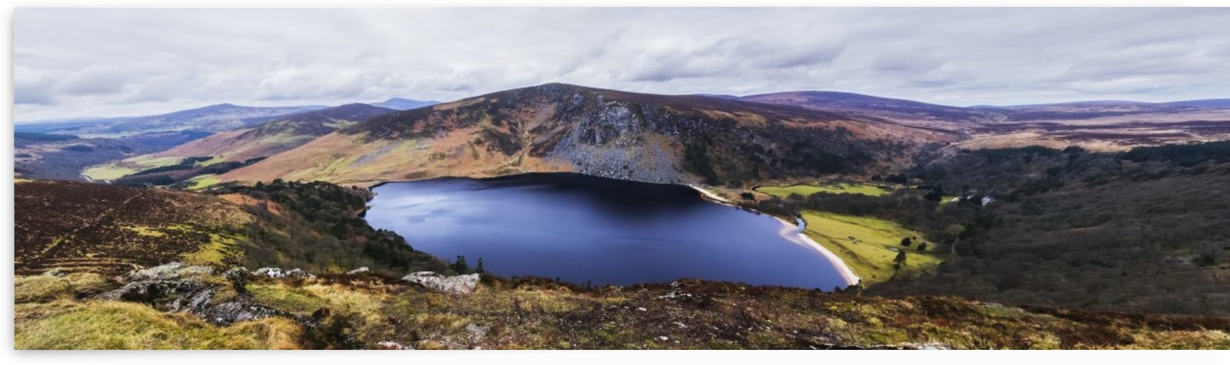 Panoramic view of stunning Guinness Lake; Wickow County, Ireland by PacificStock