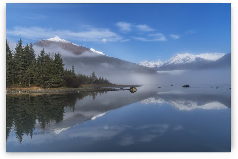 Foggy morning at Mendenhall Lake, Tongass National Forest; Juneau, Alaska, United States of America by PacificStock
