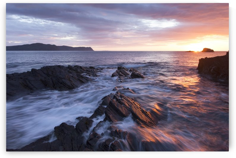 Sunset overlooking Horn Head and the on the beautiful Irish coastline, part of Ireland's Wild Atlantic Way; County Donegal, Ireland by PacificStock