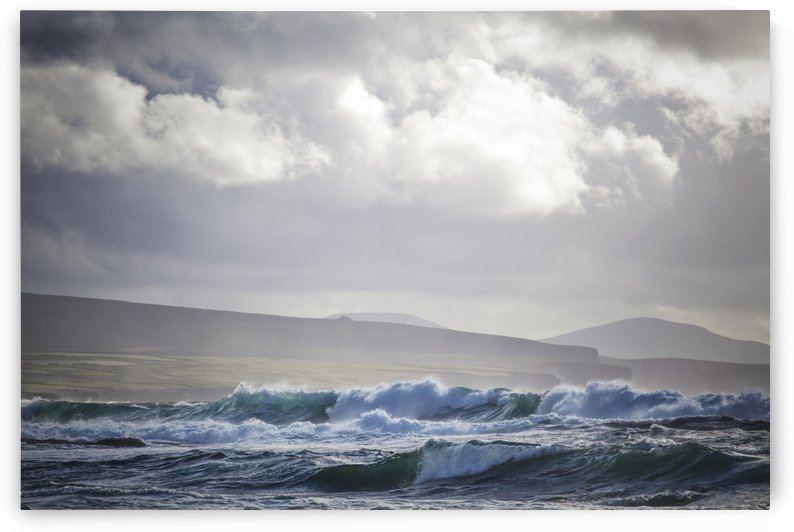 Stormy seas on Ireland's Wild Atlantic Way overlooking the Ceide Fields near Ballycastle; County Mayo, Ireland by PacificStock