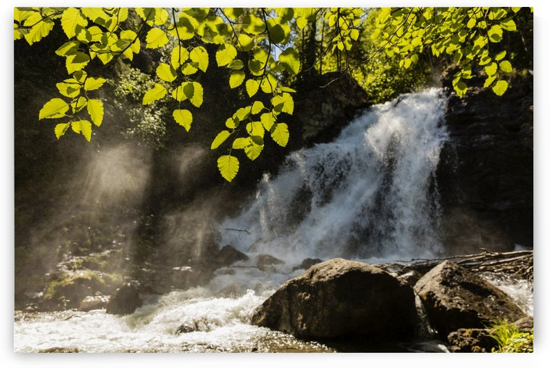 Barbara Falls on the South Fork of Eagle River, Chugach State Park, South-central Alaska; Alaska, United States of America by PacificStock