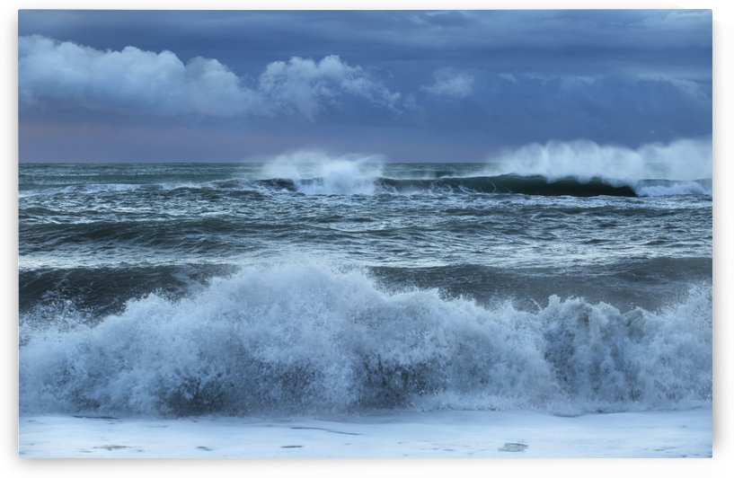 Stormy skies over a west coast beach; Greymouth, South Island, New Zealand by PacificStock