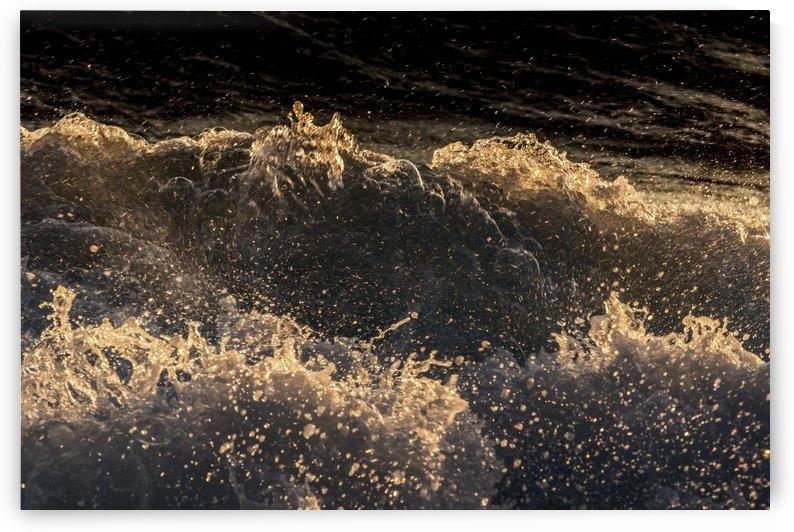 Waves crashing on the Kona coast at sunset; Kona, Island of Hawaii, Hawaii, United States of America by PacificStock