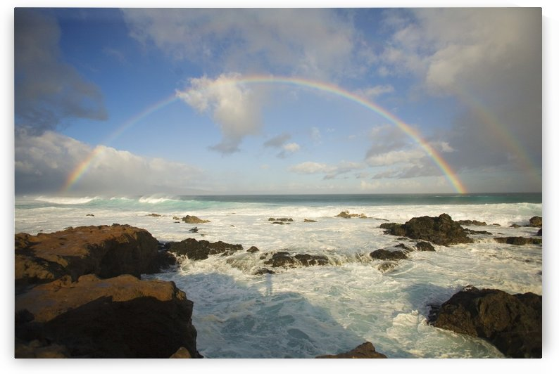 USA, Hawaii, Rainbow offshore of Hookipa Beach; Maui by PacificStock