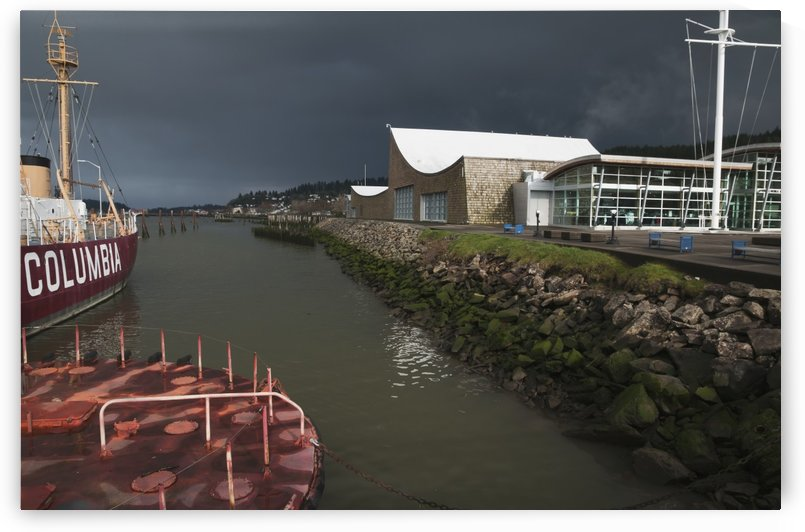 The Columbia River Maritime Museum sits on the banks of the Columbia River; Astoria, Oregon, United States of America by PacificStock