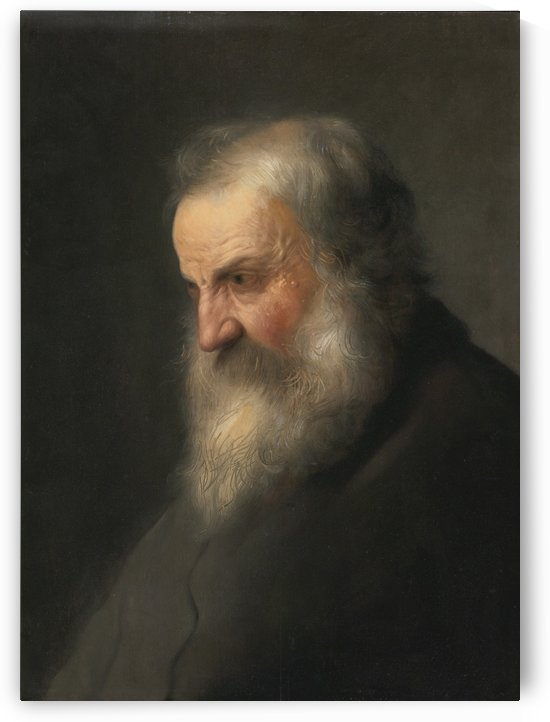 Side portrait of a man by Jan Lievens