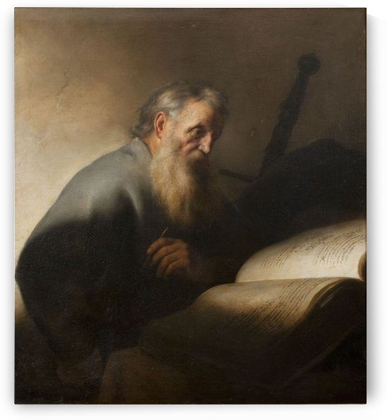An old man reading by Jan Lievens