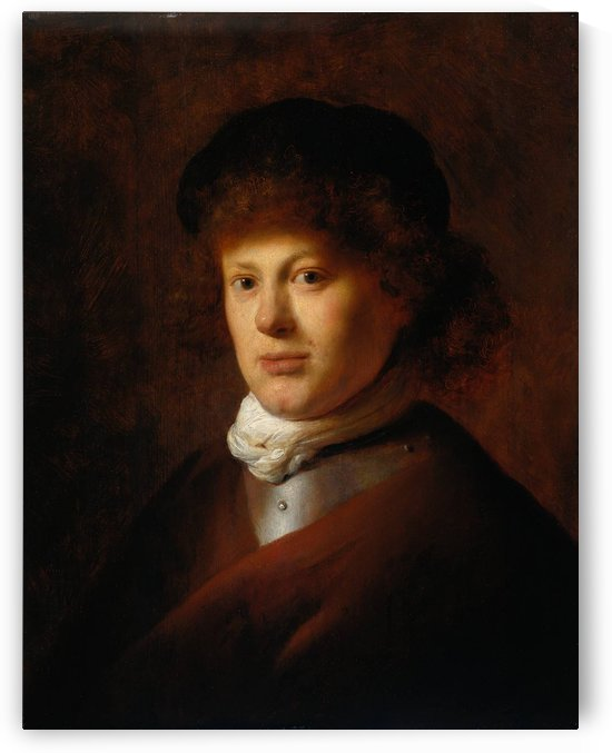 Portrait of Rembrandt van Rijn by Jan Lievens