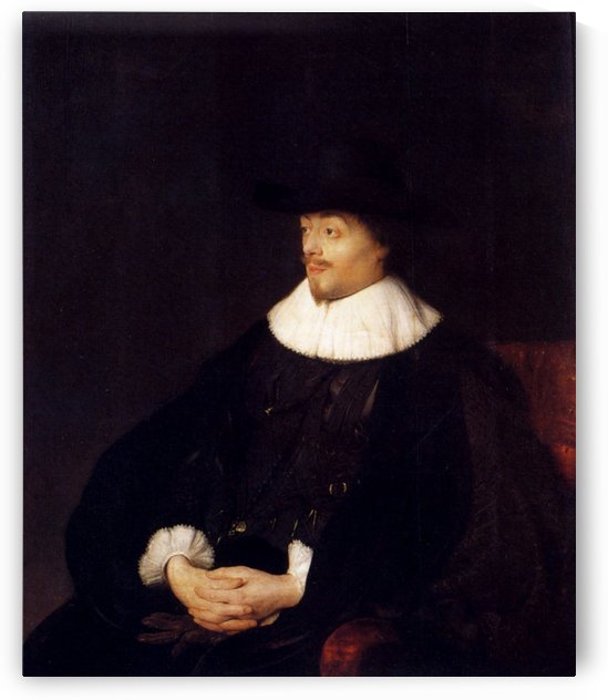 Portrait Of Constantijn Huygens by Jan Lievens