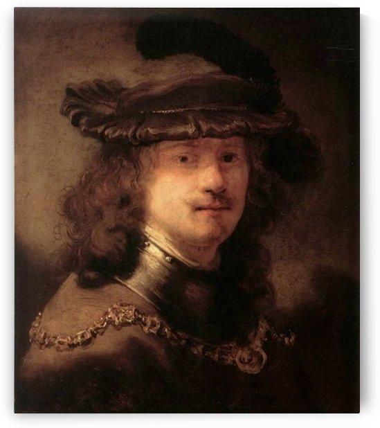 Portrat von Rembrandt by Jan Lievens