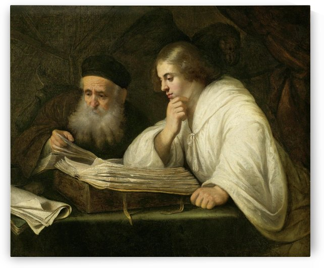 Two men reading by Jan Lievens