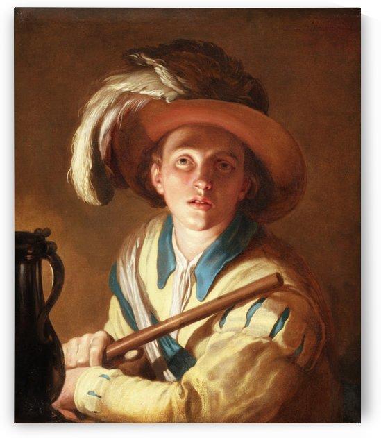 Abraham Bloemaert De Fluitspeler 1621 by Jan Lievens