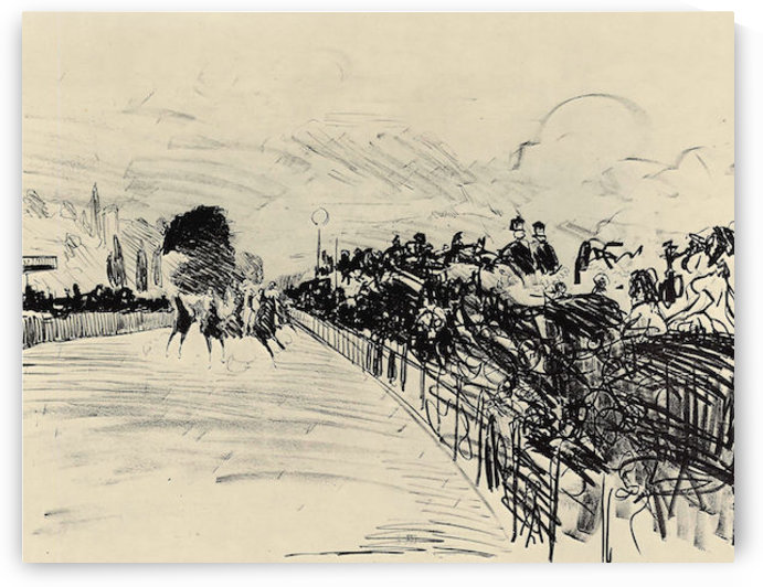 Horse racing by Manet by Manet