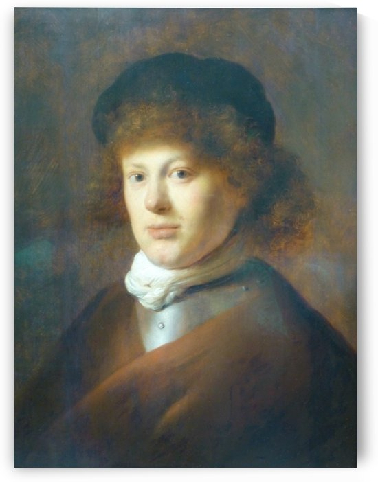 A portrait of Rembrandt by Jan Lievens