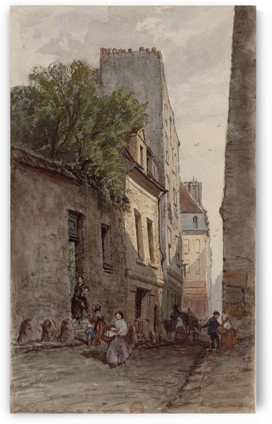 Maison du diacre Francois de Paris rue des Bourguignons by Adrien Dauzats