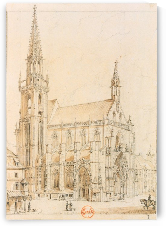 Eglise de Thann by Adrien Dauzats
