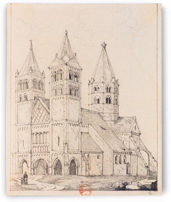 Eglise de Guebwiller by Adrien Dauzats