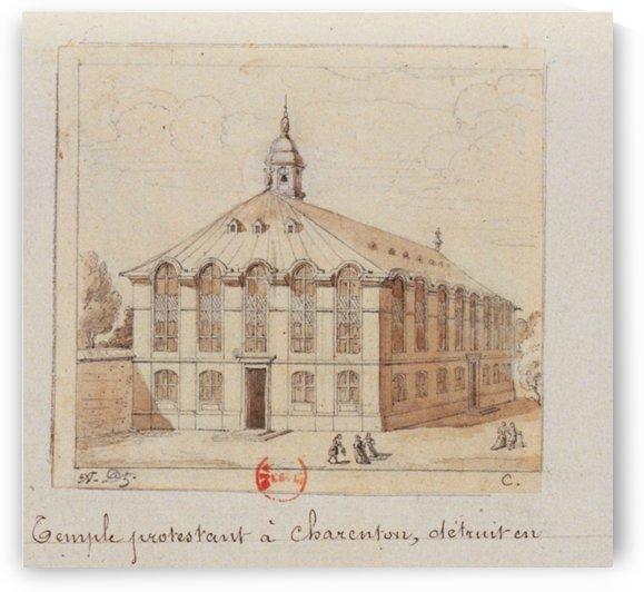 Temple protestant a Charenton detruit en 1686 by Adrien Dauzats