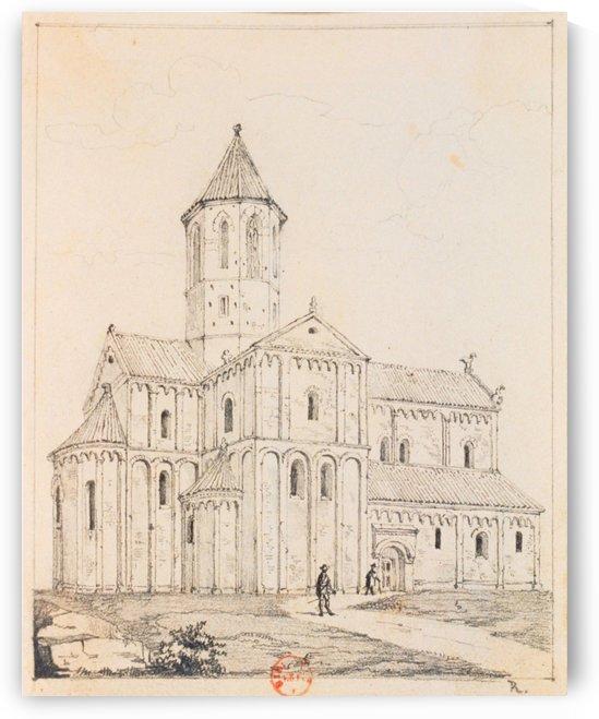 Eglise de Rosheim by Adrien Dauzats