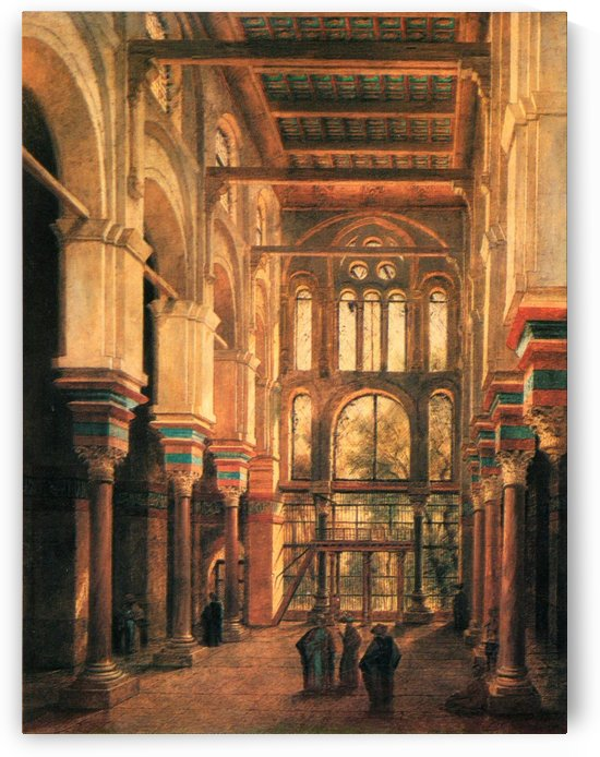 Interieur de la mosquee du Mourestan by Adrien Dauzats