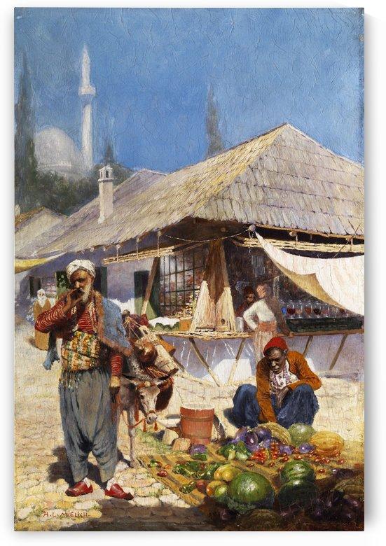 Mielich Orientalische Marktszene by Leopold Alphons Mielich