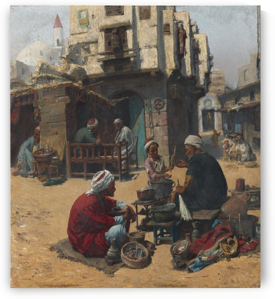 People cooking by Leopold Alphons Mielich