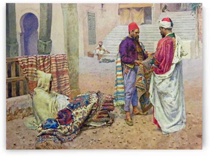 The carpet seller by Leopold Alphons Mielich