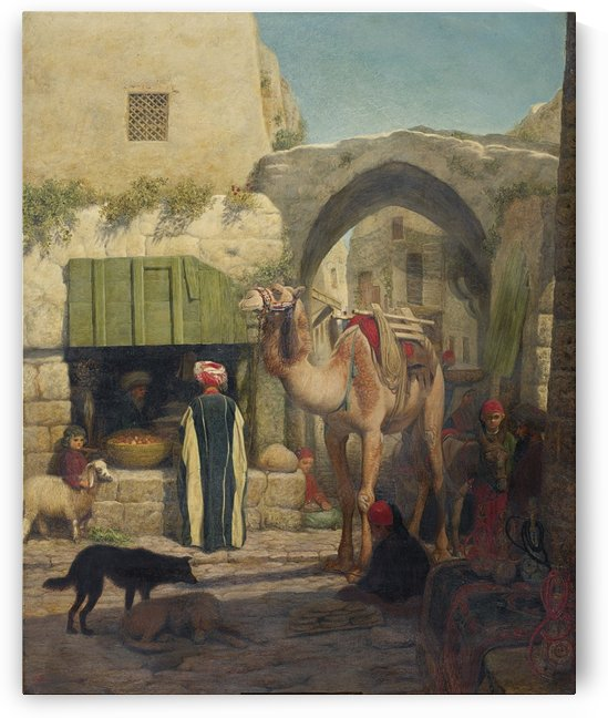 The road through Jerusalem by Leopold Alphons Mielich
