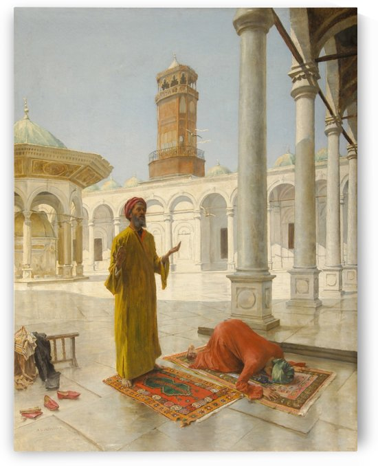 Men praying by Leopold Alphons Mielich