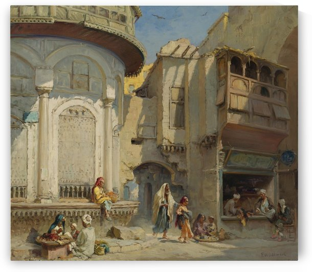 The streets of Cairo by Leopold Alphons Mielich