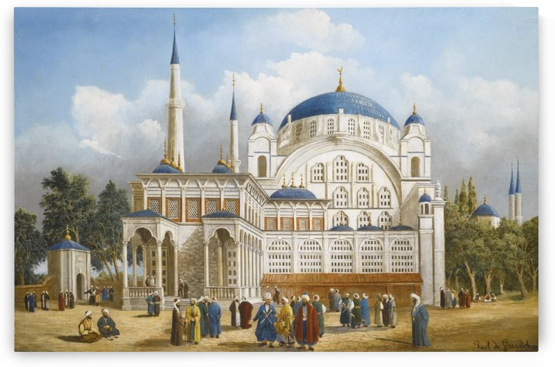 The Nusretiye Mosque by Leopold Alphons Mielich