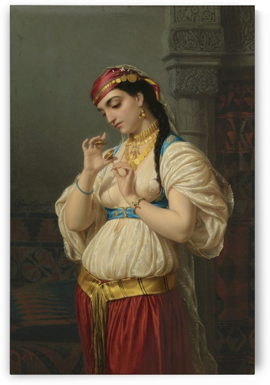 Aimee, a Young Egyptian, 1869 by Emile Lecomte-Vernet