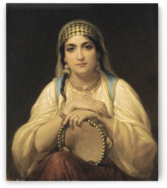 The Tambourine Player by Emile Lecomte-Vernet