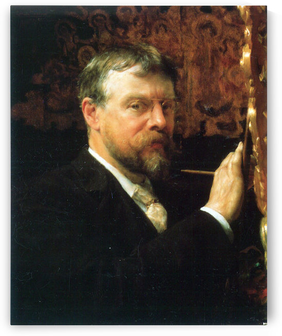 Self Portrait by Alma-Tadema by Alma-Tadema