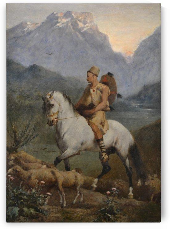 Kabyle Shepherd by Eugene Fromentin