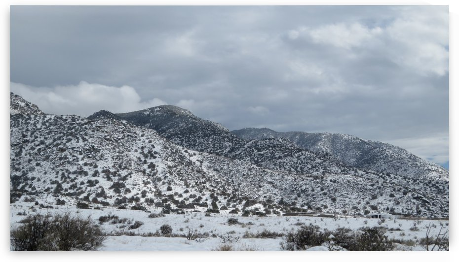 Sandia Mountains in the Snow VP3 by Vicki Polin