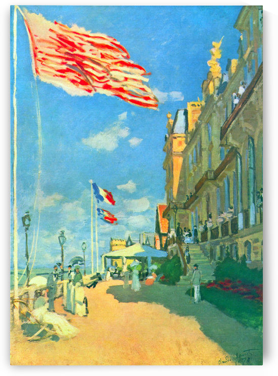 Hotel des Roches Noires in Trouville by Monet by Monet