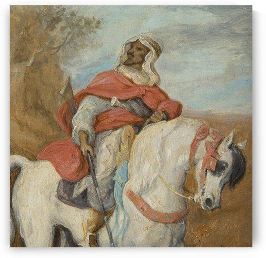 Arab horseman by Eugene Fromentin
