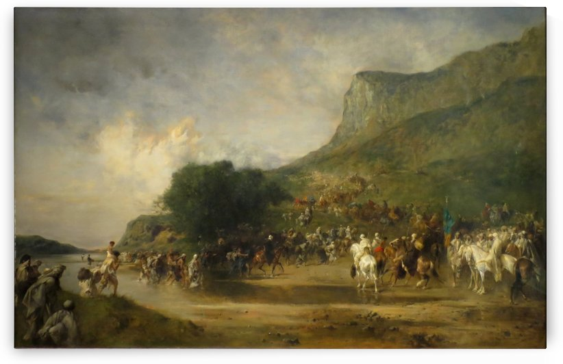 Arabs on the Way to the Pastures of the Tell by Eugene Fromentin