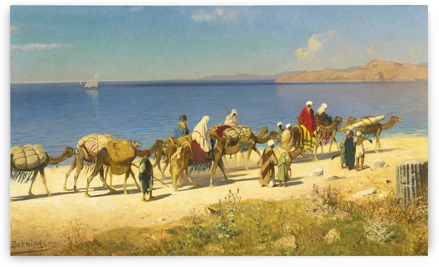 Caravans by the seaside by Edmund Berninger
