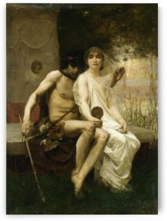 Eros and a young couple by Jean-Eugene Buland