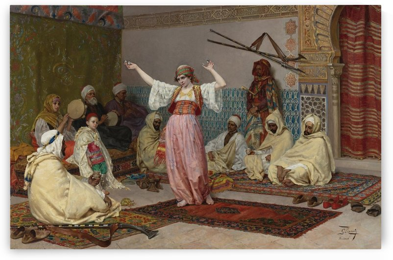 Oriental dance by Giulio Rosati