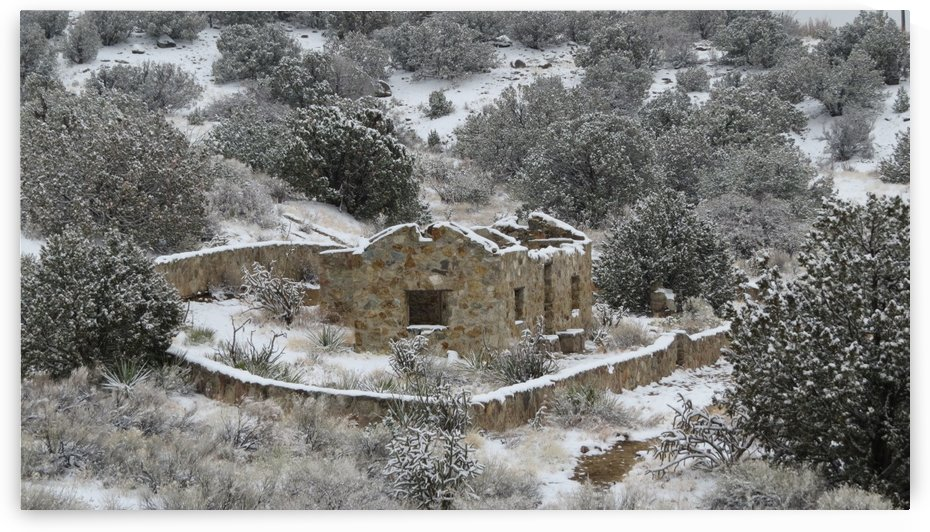Ruins - Juan Tabo in Snow 2VP by Vicki Polin