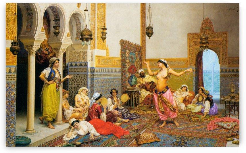 Harem dance by Giulio Rosati