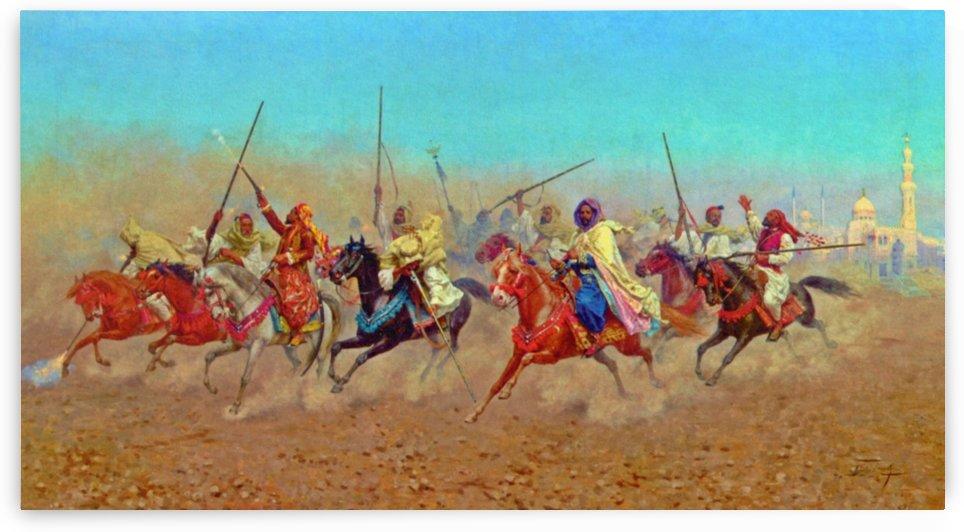 Charging Horsemen by Giulio Rosati