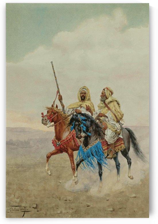 Horsemen of the desert by Giulio Rosati