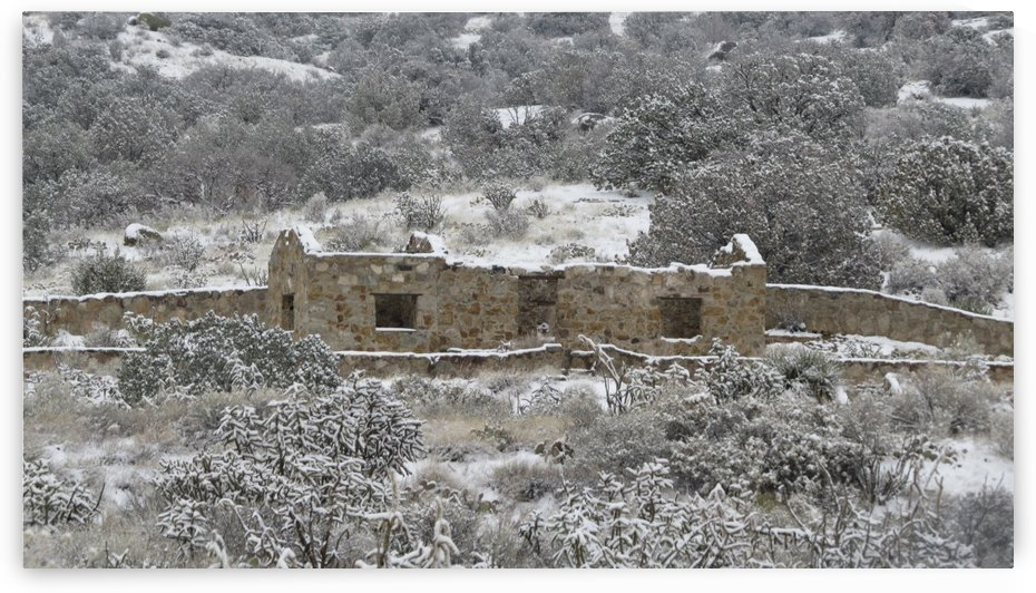Ruins- Juan Tabo in Snow 1VP by Vicki Polin