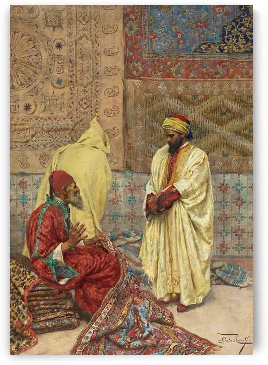 The carpet bazaar by Giulio Rosati