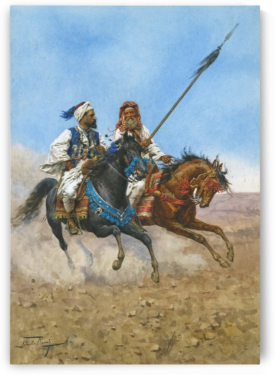 Arab riders by Giulio Rosati